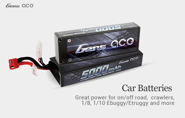 Gens ace rc car battery