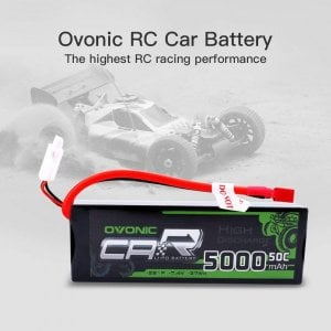OVONIC 7.4V 5000mAh 50C 2S LiPo Battery Pack