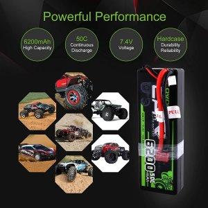 OVONIC 7.4V 6200mAh 2S1P Hardcase Lipo Battery