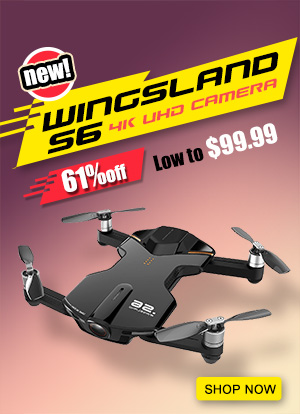 Wingsland S6 4K UHD Camera Pocket Selfie RC Drone