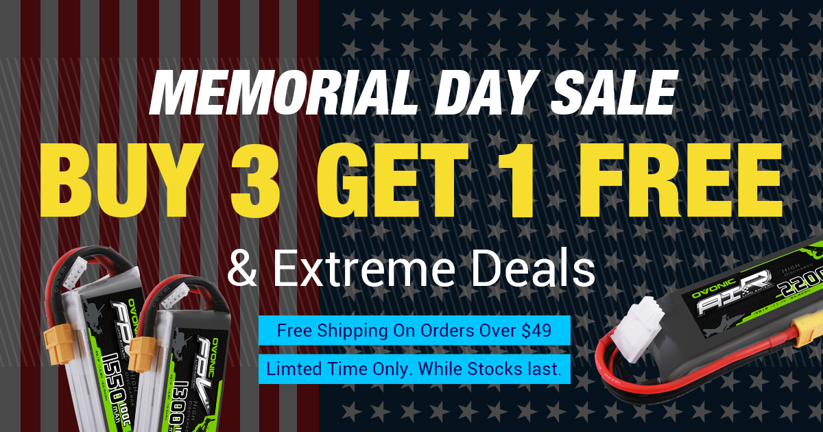 Memorial Day Sales 2019: Extreme Deal for RC Batteries