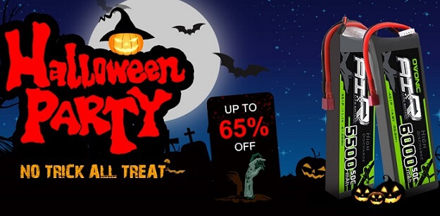 Ampow Halloween promotions – lipos Great deals