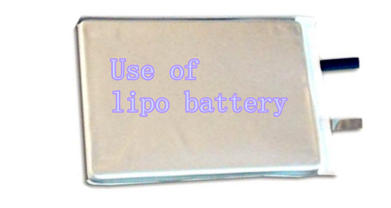 Use of lithium polymer battery