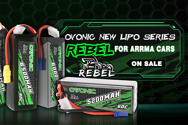 Ovonic rebel series for Arrma RC car